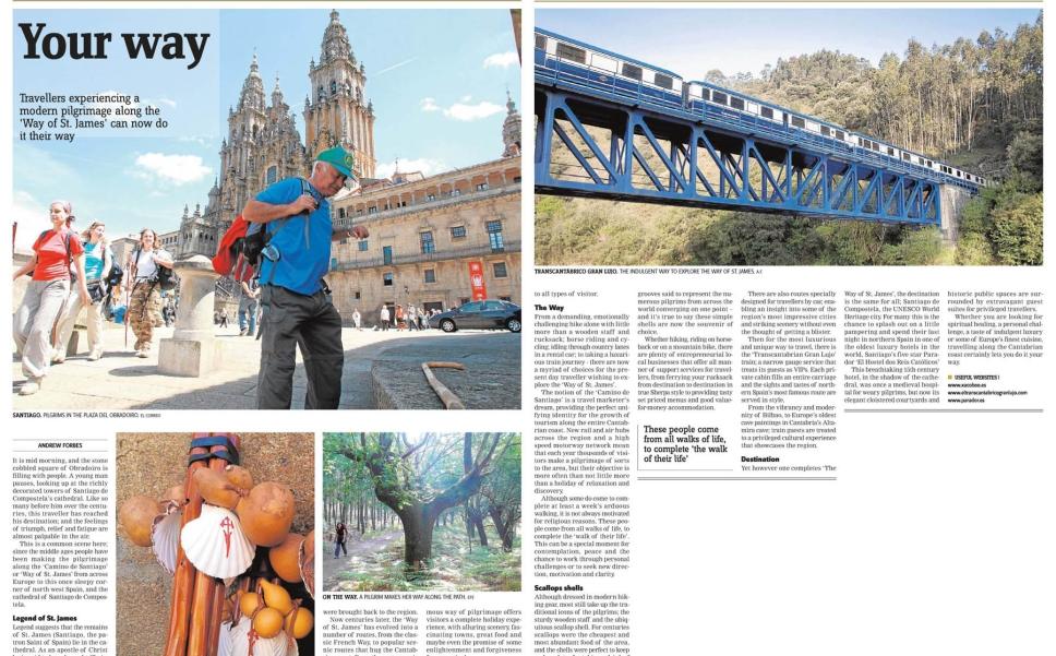 Camino De Santiago St James Way Galicia Travel Andrew Forbes