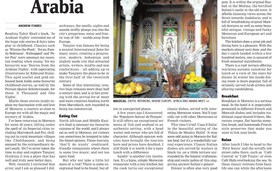 Tangier Nord Pinus Hotel Morocco Travel Writing Andrew Forbes