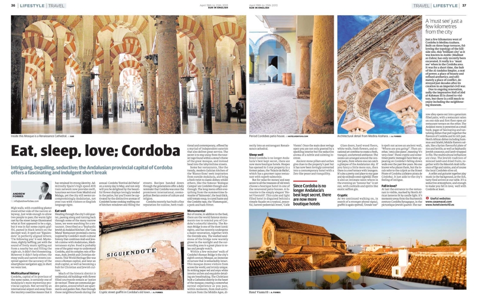 Cordoba Travel Writing Andrew Forbes