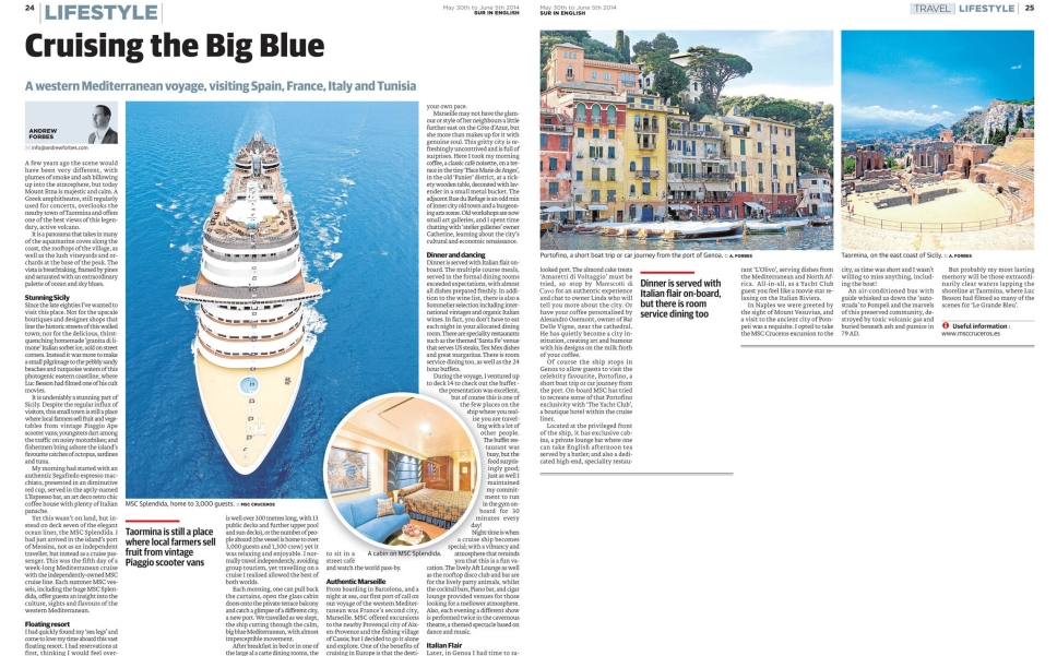 Cruising The Big Blue - MSC Mediterranean Cruise with Andrew Forbes