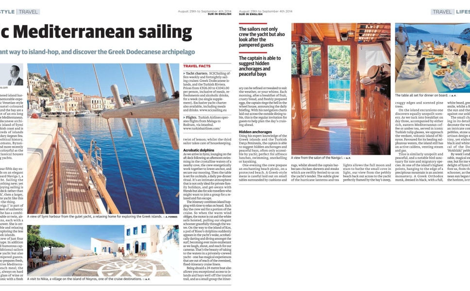 The elegant way to island-hop, and discover the Greek Dodecanese archipelago with SCIC Sailing
