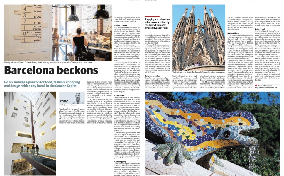 Barcelona Beckons - Travel Article by Andrew Forbes