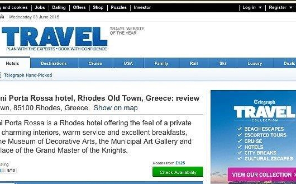 Kokkini Porta Rosa Hotel Review Andrew Forbes