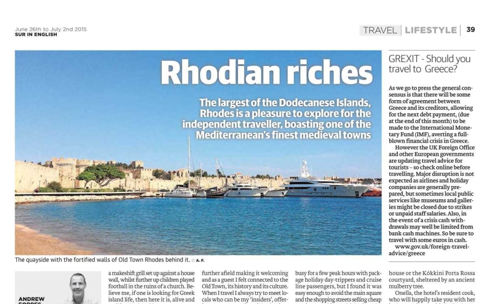 Sample Rhodian Riches by Andrew Forbes