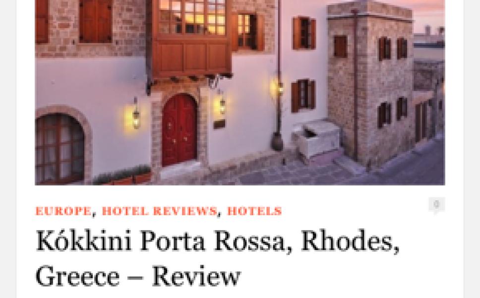 Kokkini Porta Rossa Masthead