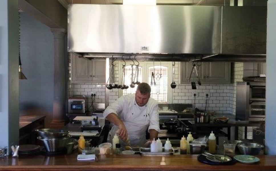 Ryan Smith in his Kitchen
