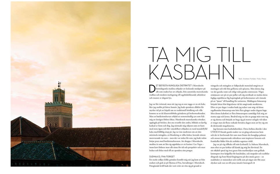 Marrakech - First Class Mag - Sweden