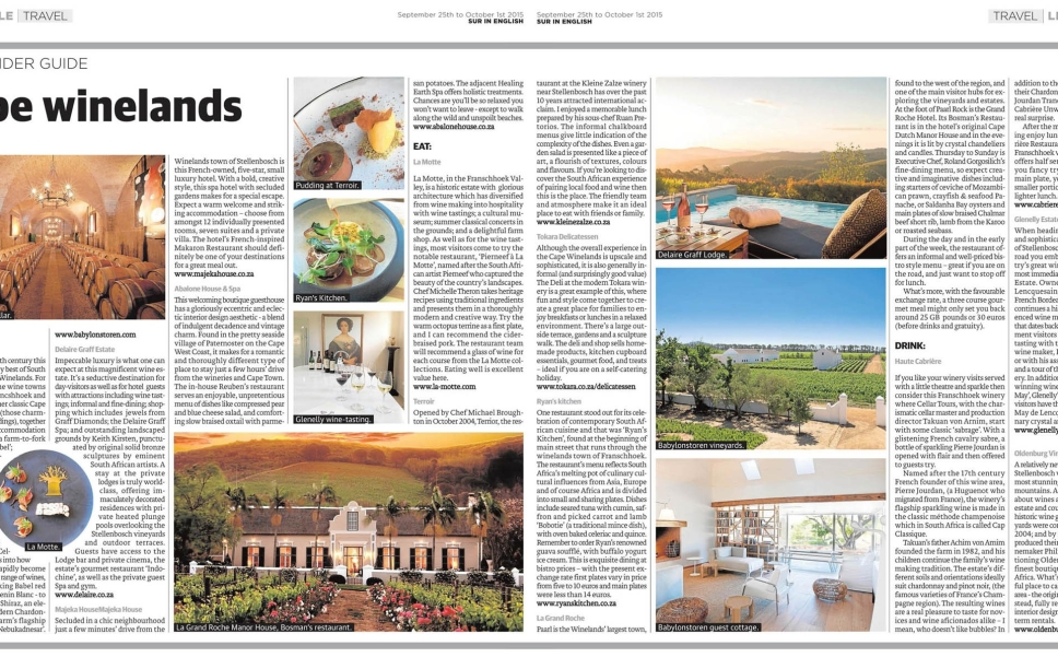 The Insider Guide Cape Winelands