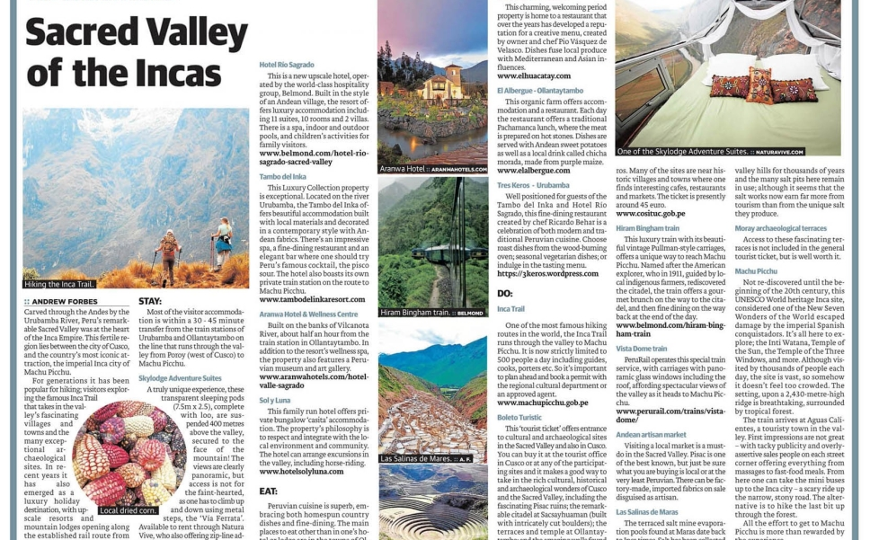 Insider Guide Sacred Valley By Andrew Forbes 1