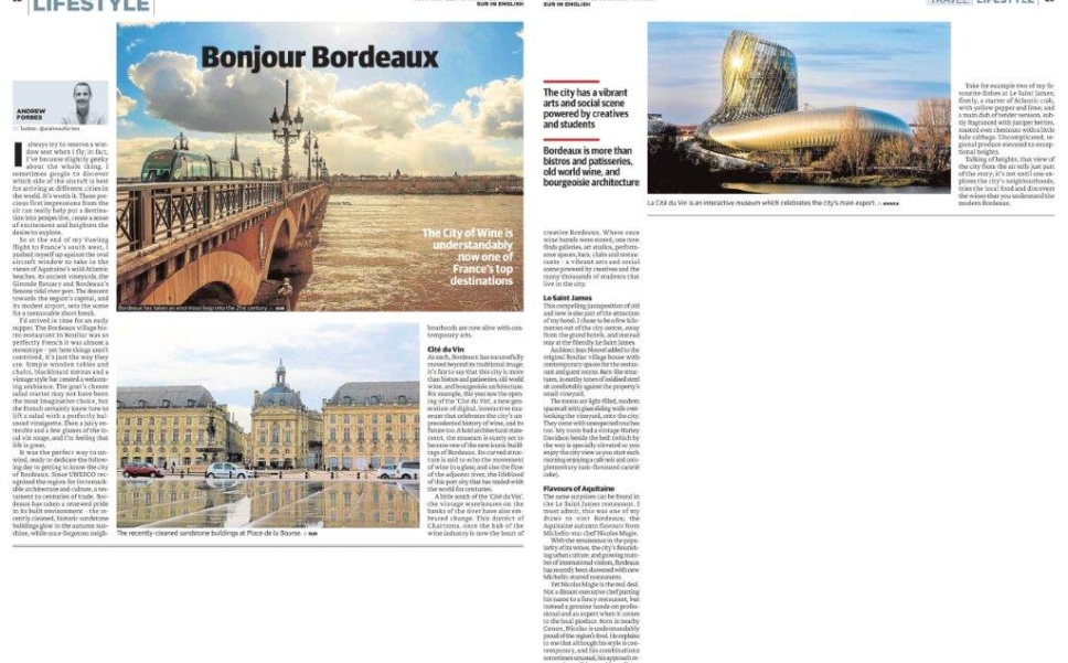 Bonjour Bordeaux Travel Feature Andrew Forbes