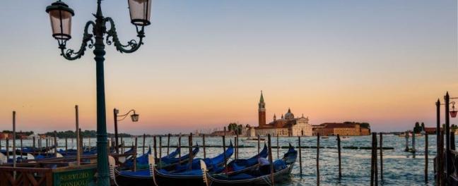 Gondolas Piazza San Marco Venice Library