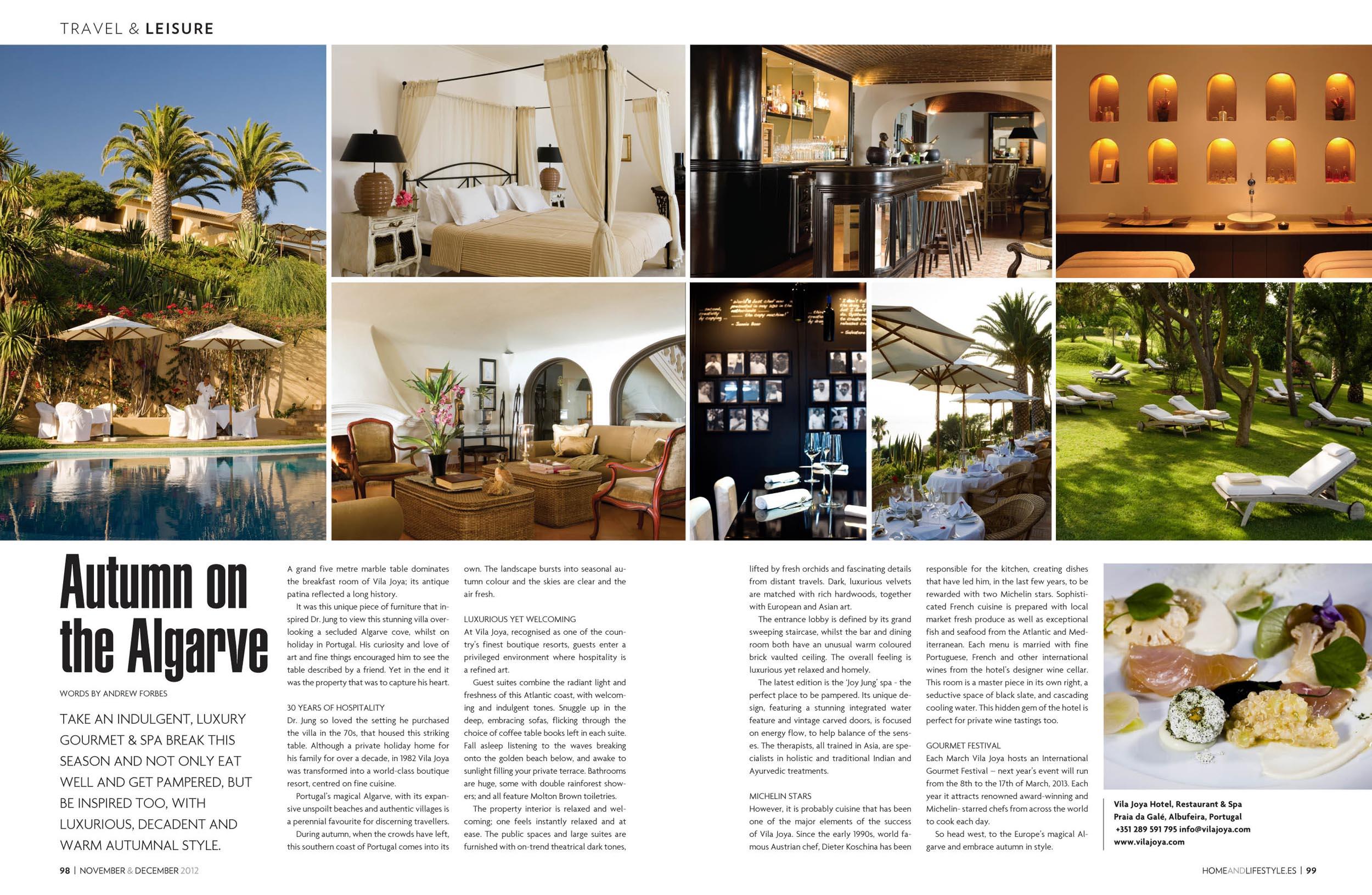 Autumn on the algarve vila joya portugal andrew forbes for Interior design magazine articles
