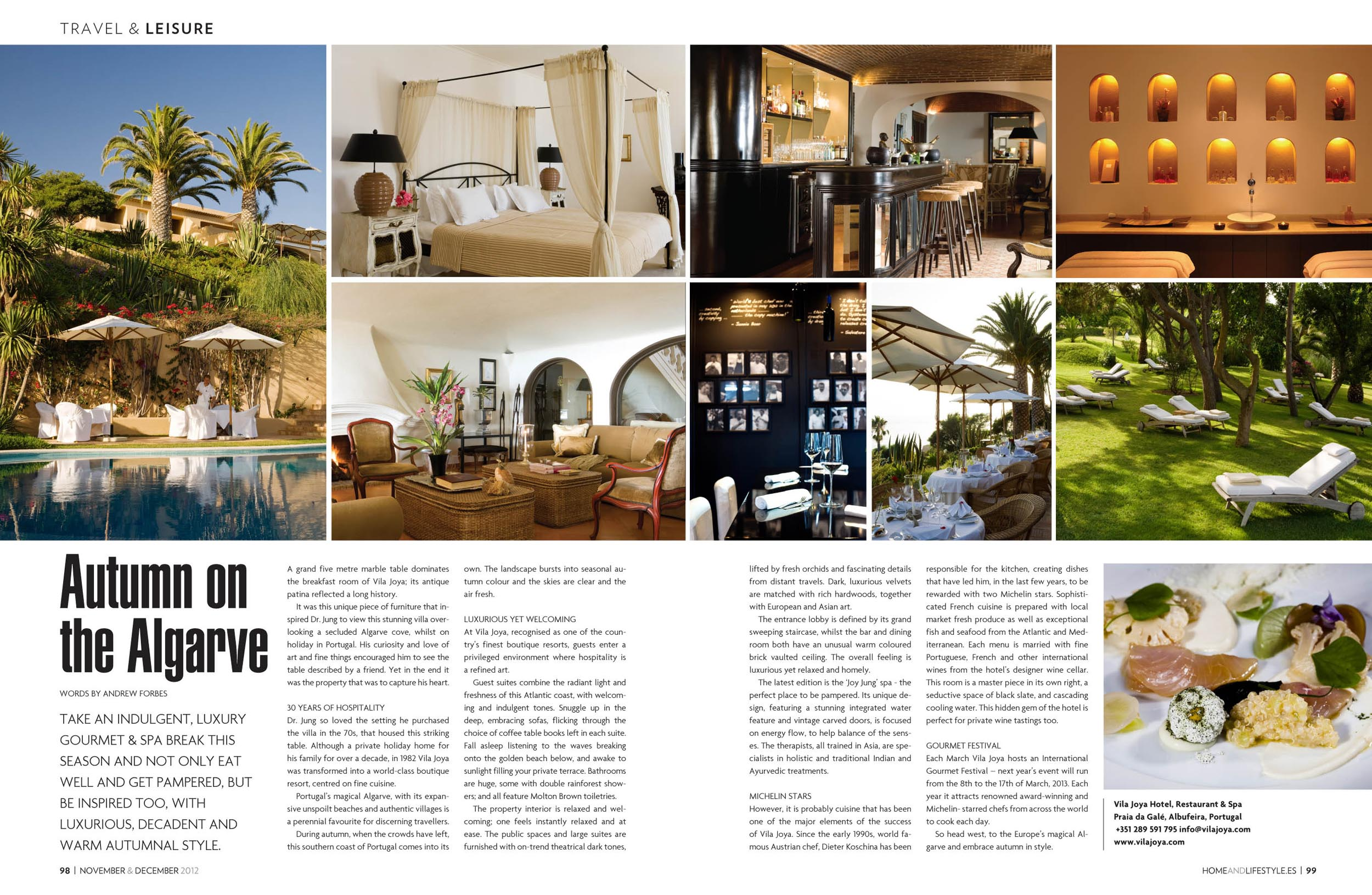 Autumn on the algarve vila joya portugal andrew forbes for Interior design articles