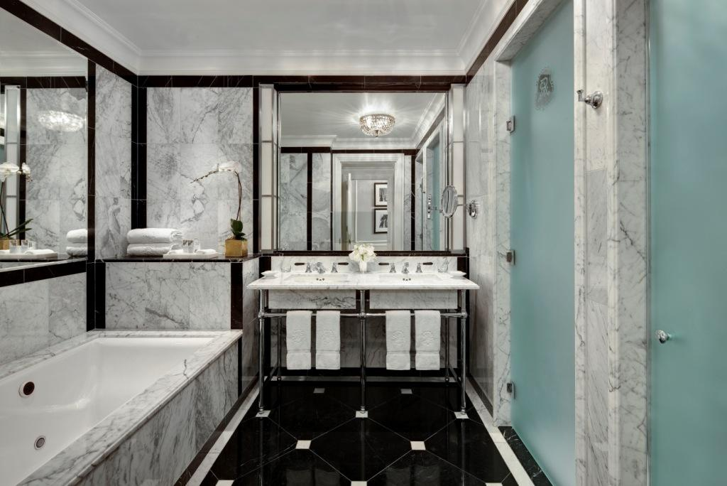 Restoring vintage glamour to new york city the new st for Bathrooms in nyc