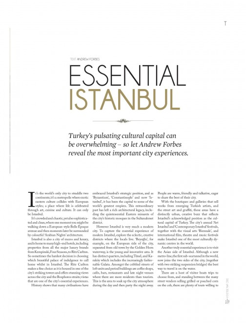 Andrew Forbes Essential Istanbul Le City Deluxe  2