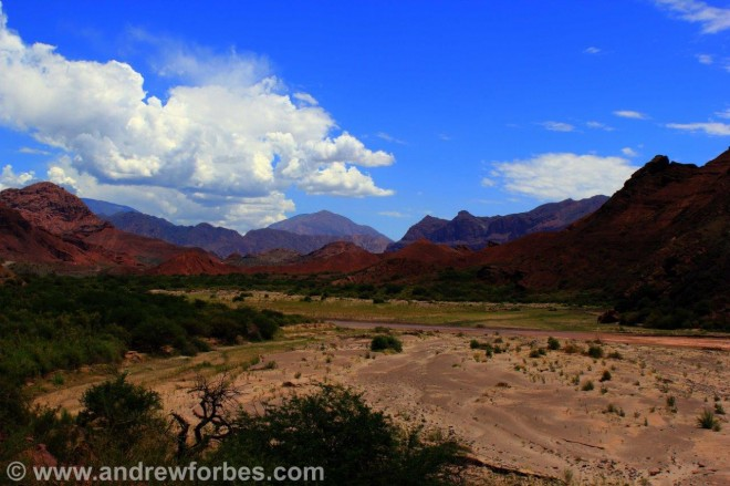 Landscape on the road to Cafayate from Salta Argentina Andrew Forbes