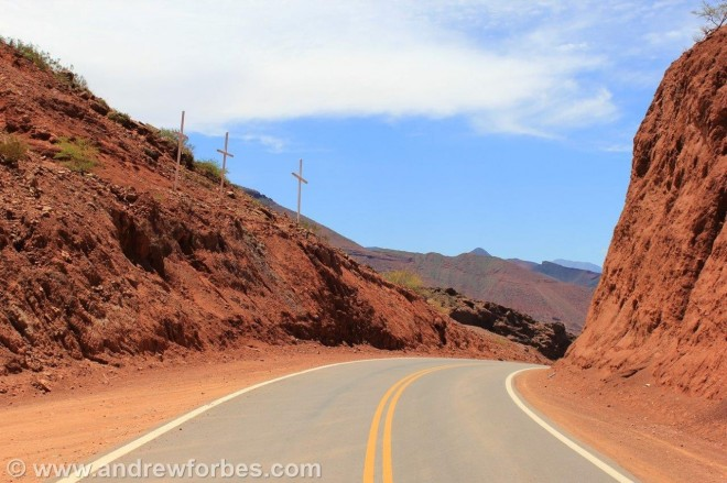 Three Crosses on the Road to Cafayate