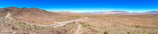 Panorama of the Cactus National Park in Argentina