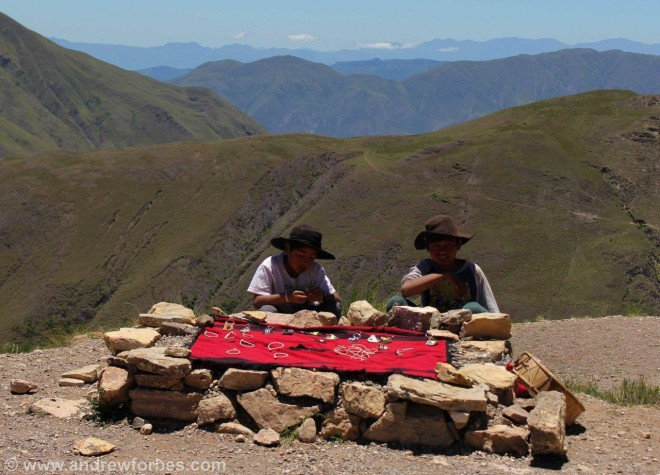 Selling tourist tack in salta province Argentina