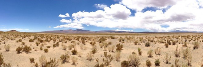 panorama on road to salinas grandes