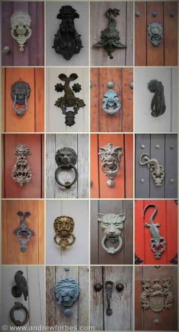 Historic doors, knockers, street life, Cartagena de Indias, Colombia