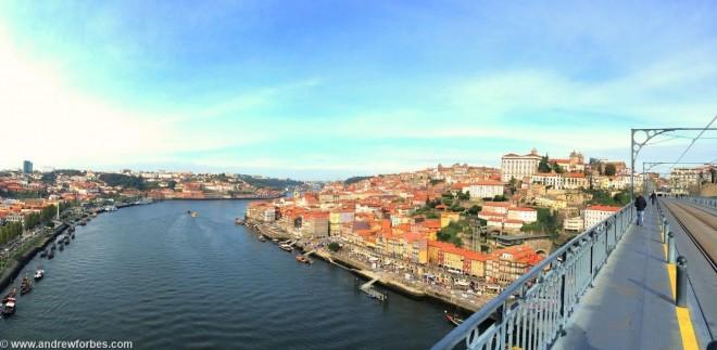 VERTIGINOUS VIEW - The upper deck panorama from Luis I bridge