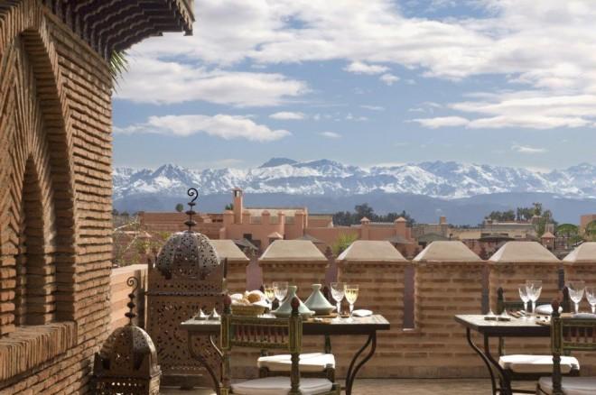 MAIN PIC - Medina Rooftops & Atlas mountains from La Sultana Hotel