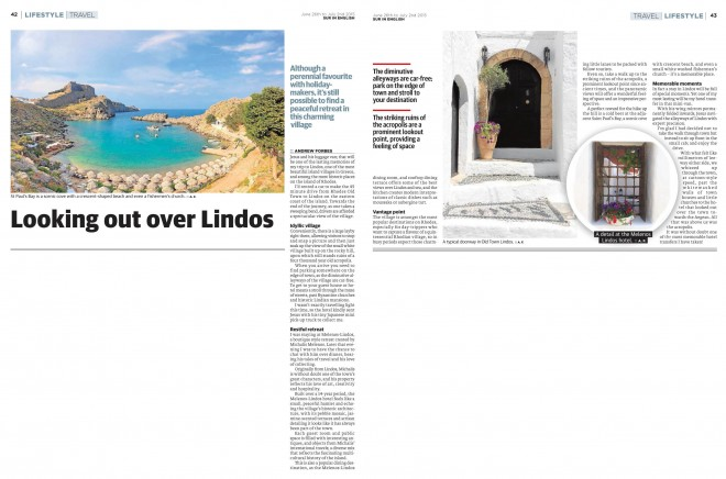 Lindos, Rhodes, Travel Feature by Andrew Forbes