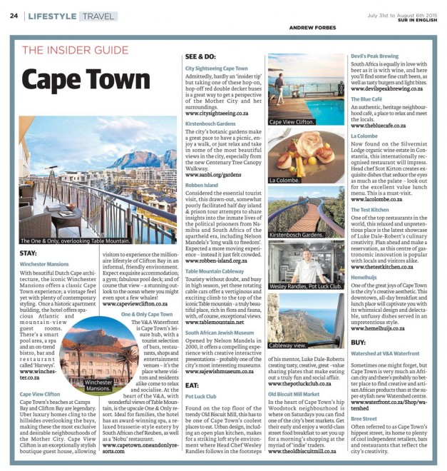 INSIDER GUIDE CAPE TOWN A FORBES