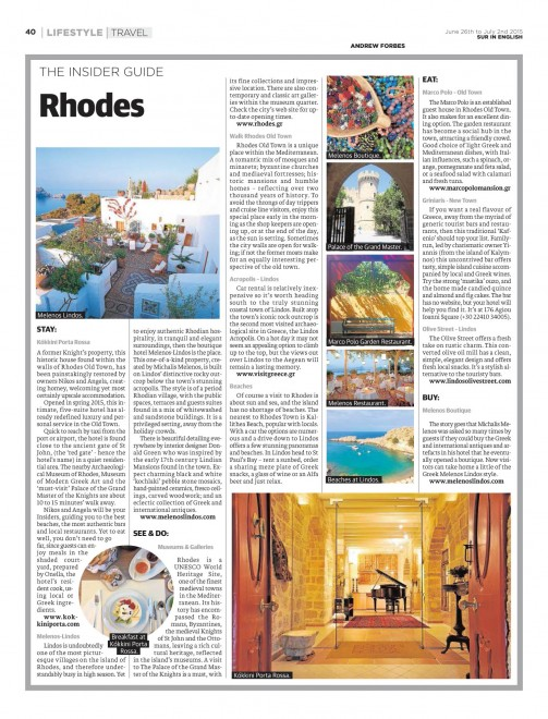 Rhodes Insider Guide  Andrew Forbes
