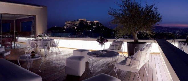 New Hotel - Acropolis views from penthouse