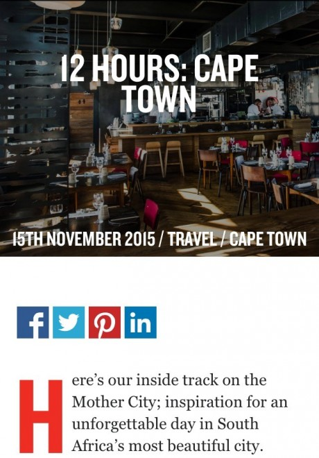 12 Hours in Cape Town