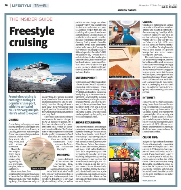 Freestyle Cruising INSIDER GUIDE