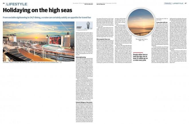 Norwegian Epic Cruise Feature