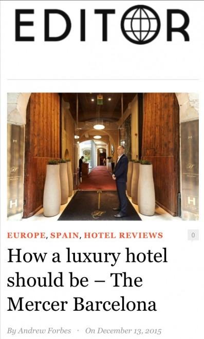 Mercer Barcelona Hotel