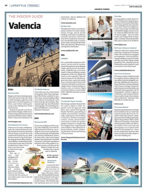 Insider Guide to Valencia by Andrew Forbes
