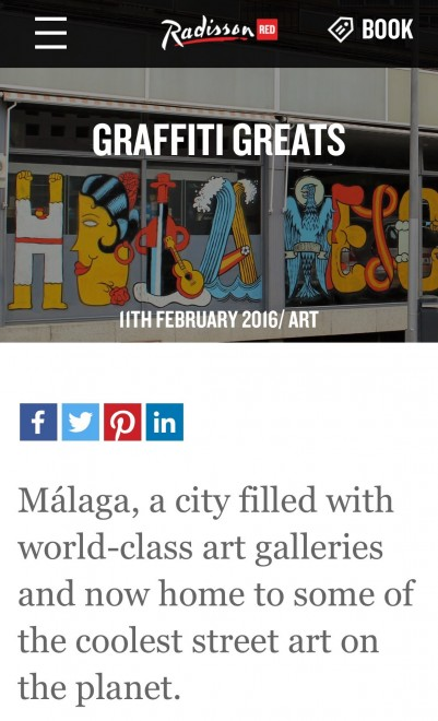 Malaga Street Art by Andrew Forbes for RadissonRED #art #travel #malaga #travel #andrewforbes