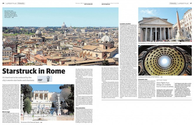 StarStruck in Rome Travel Feature Andrew Forbes