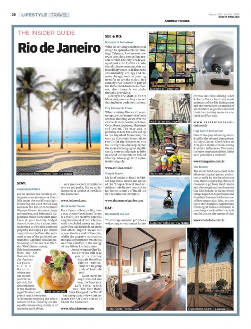 Rio de Janiero Insider Guide by Andrew Forbes
