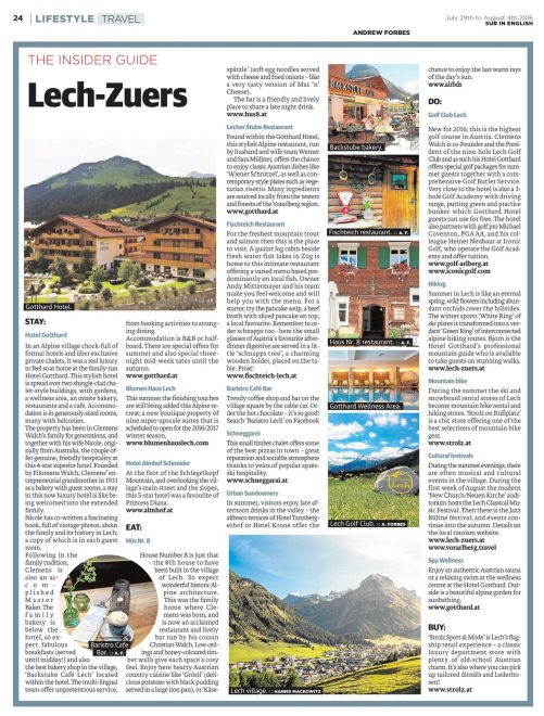 Insider Guide Lech A Forbes